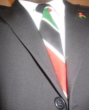 Kenyan flag tie