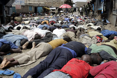Kenyan police round up suspected Mungiki members in Mathare slums