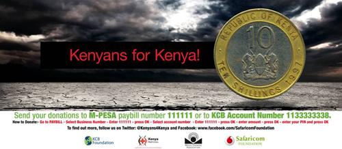 Kenyans For Kenya campaign poster