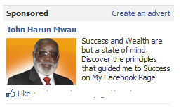 John Harun Mwau Facebook Ad - Screenshot